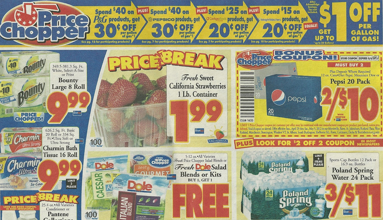 VTCouponer - Extreme Couponing in Vermont: Price Chopper Ad Scan/Preview 4/29 to 5/5