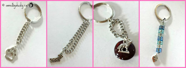 key chains with dog charms