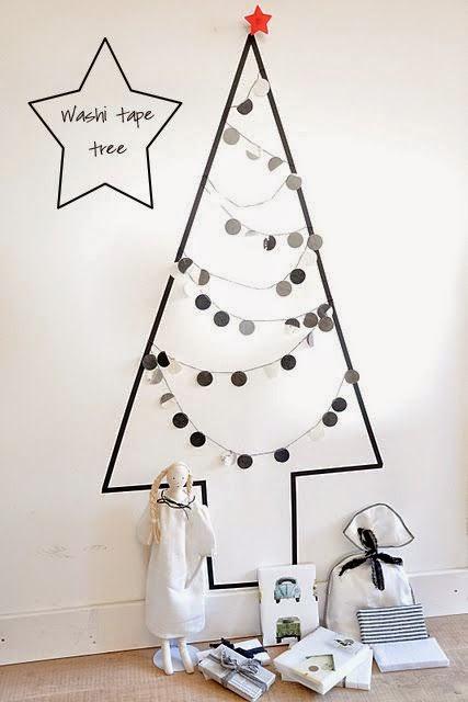 árbol de navidad con washitape
