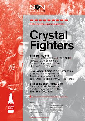 crystal fighters gira 2013 españa estrella galicia