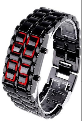 Jam Iron Samurai Tokyoflash Black Red, 155.000, Kode J159