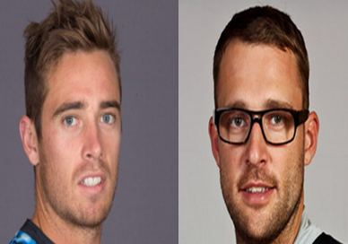 Tim Southee and Daniel Vettori images