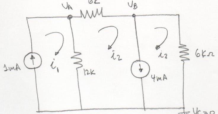 circuitos el u00e9ctricos  an u00c1lisis de nodos y mallas