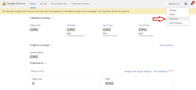 Cara Merubah Alamat Kontak Pembayaran Di Googel Adsense