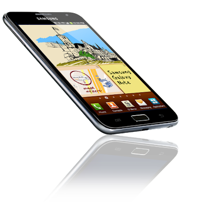 samsung galaxy note side