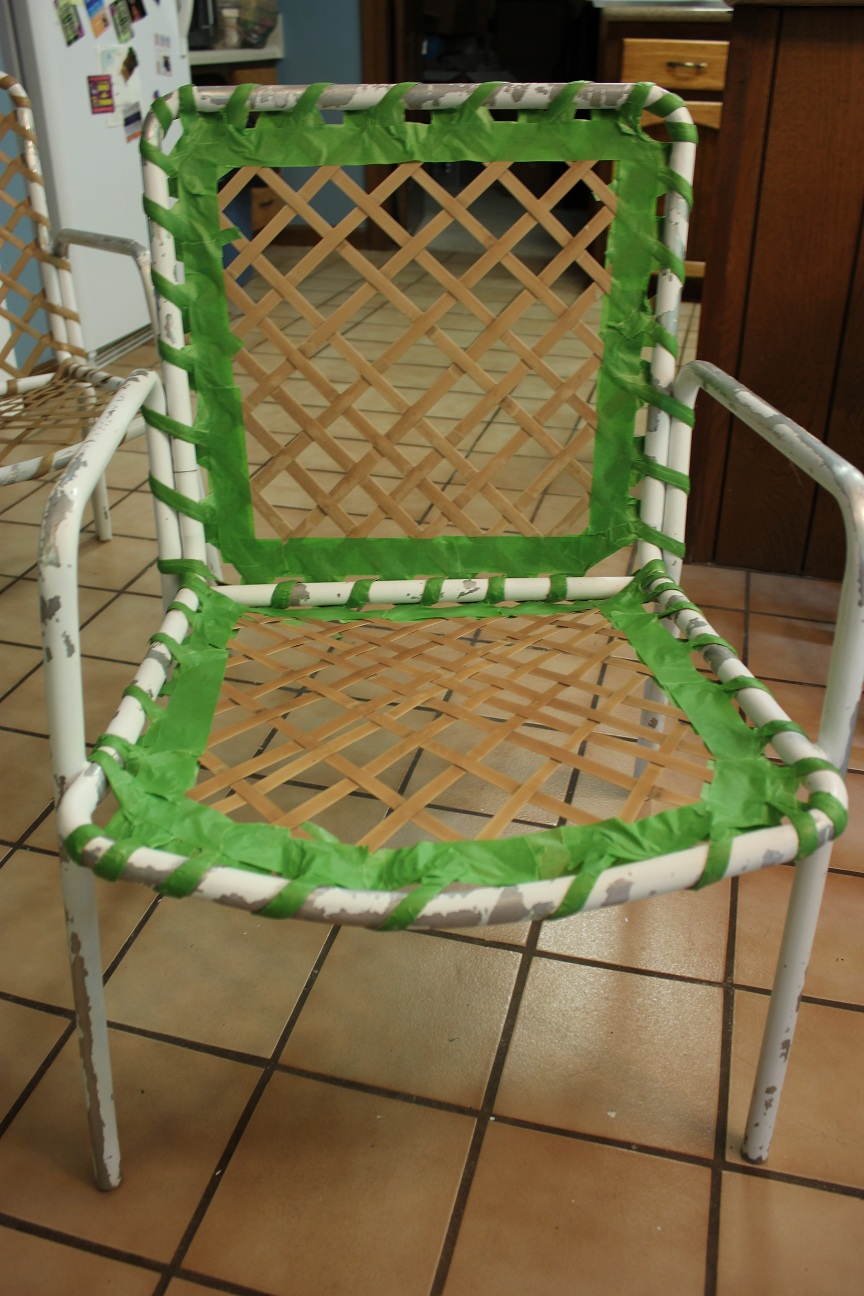 The Handcrafted Life Spray Paint Patio Furniture Makeover