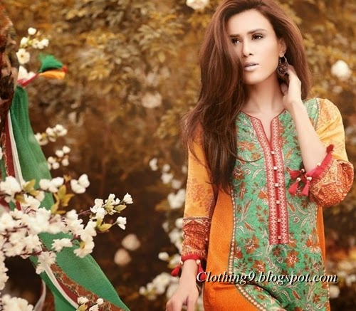 Ethnic by Outfitters Lawn 2015-2016
