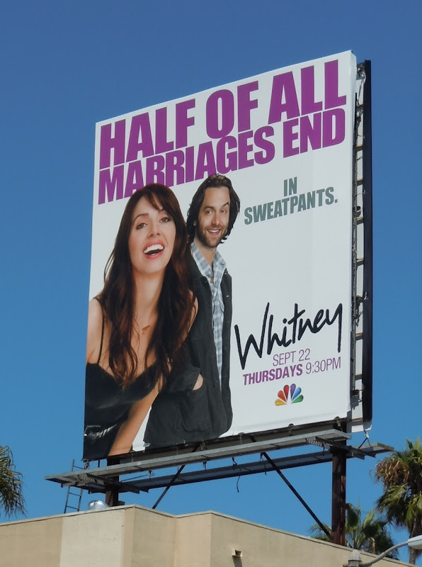 Whitney Marriages End billboard