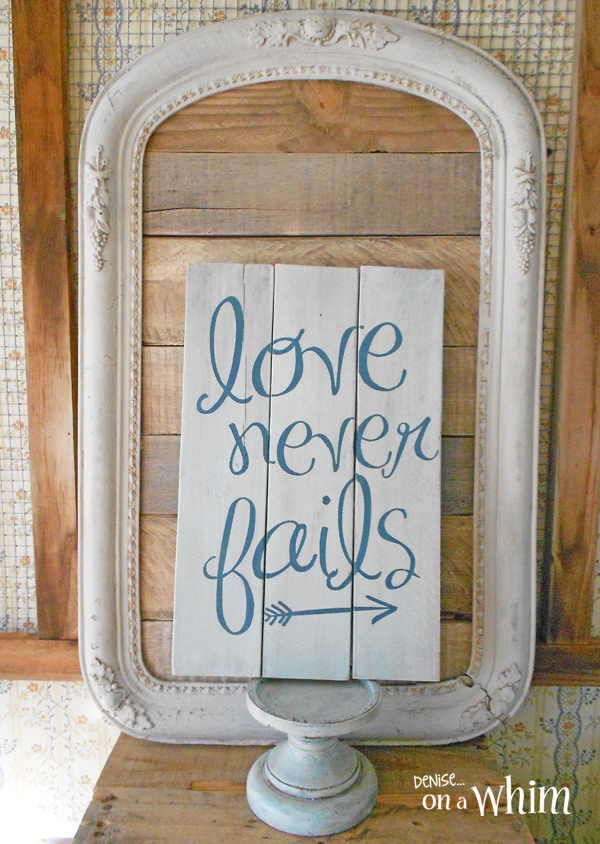 Framed Pallet Wood Backdrop in Warm Neutral Colors from Denise on a Whim