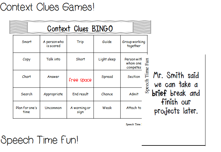 Context Clues Game by MillieBee | Teachers Pay Teachers