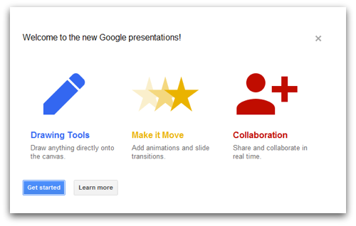 new google presentations is action packed with features google