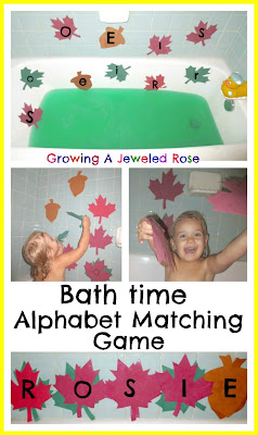Bath time learning fun