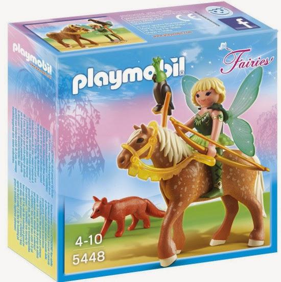 TOYS : JUGUETES - PLAYMOBIL Fairies : Hadas  5448 Hada del bosque Diana con caballo  Producto Oficial | Edad: 4-10 años
