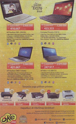 Promo Laptop HP Compact at OkeShop Price