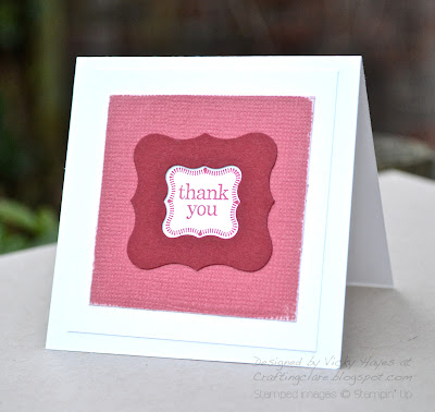 Card made with Curly Label punches from Stampin' Up