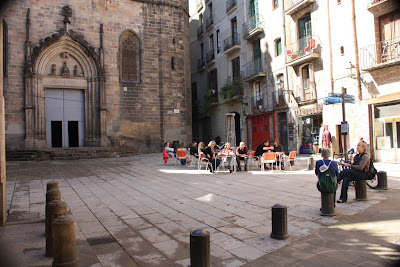 Sant Just square in the Barcelona Gothic Quarter