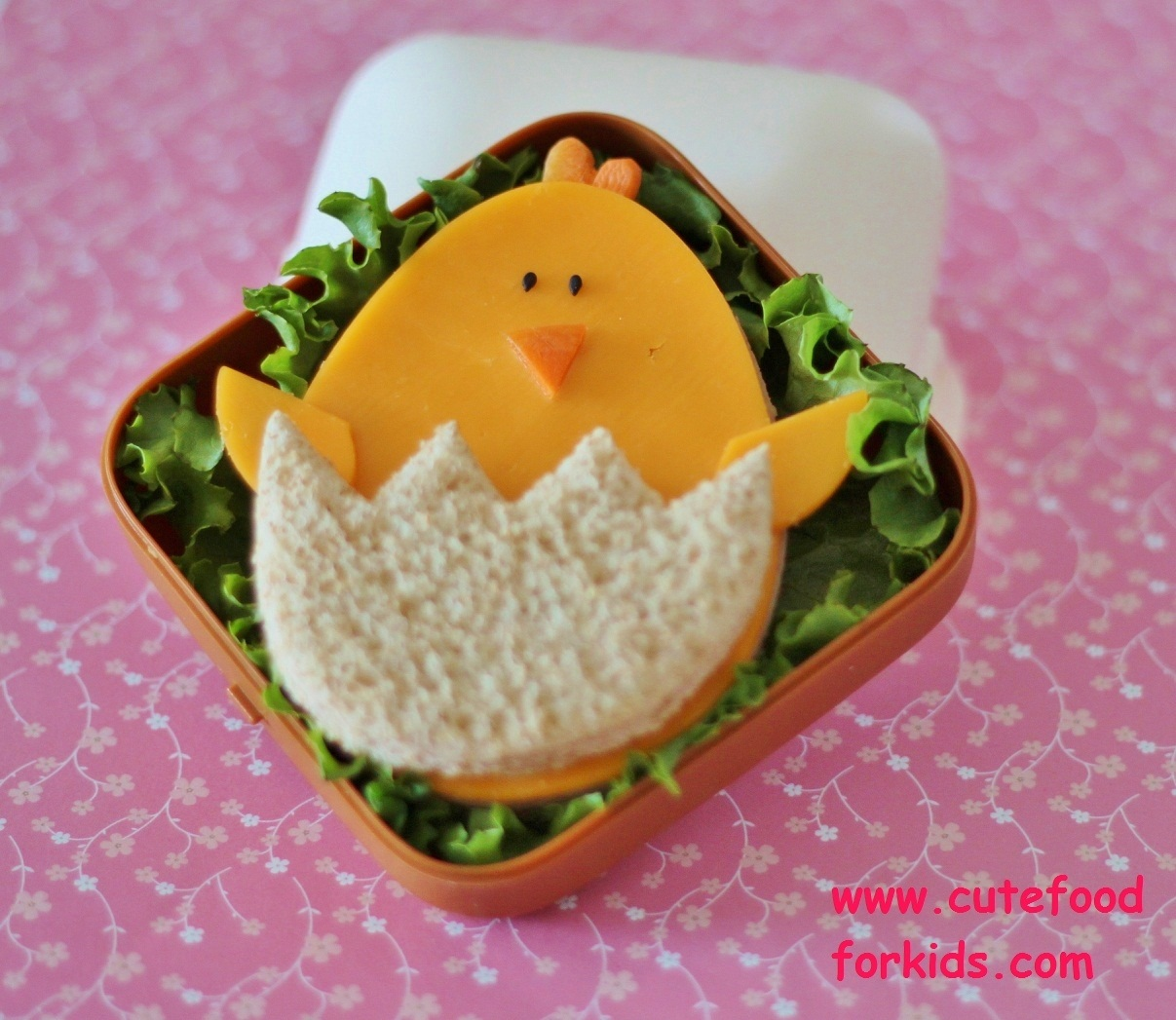 Cute food for kids easter sandwich baby chick - Stylish cooking ...