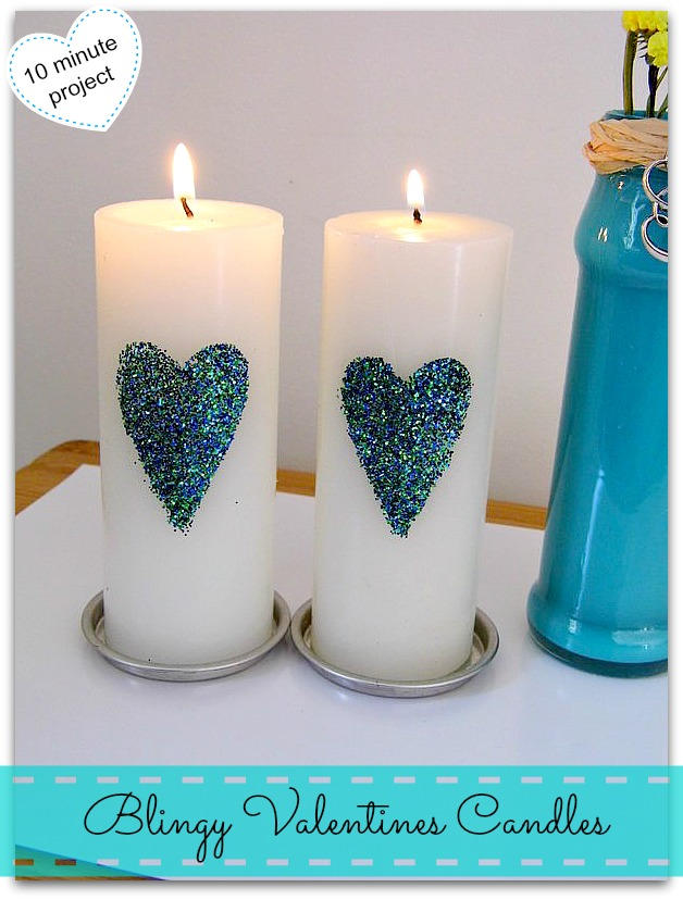 blingy valentine candles