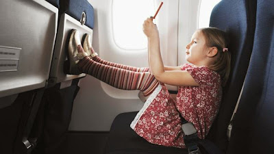 Little Girl on a Plane