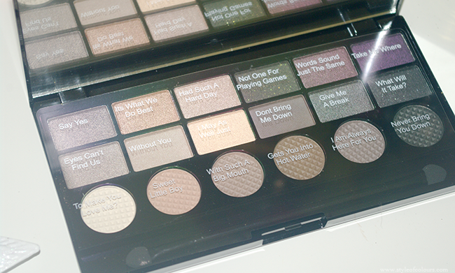 Makeup Revolution Salvation Palette Hard Day shade names