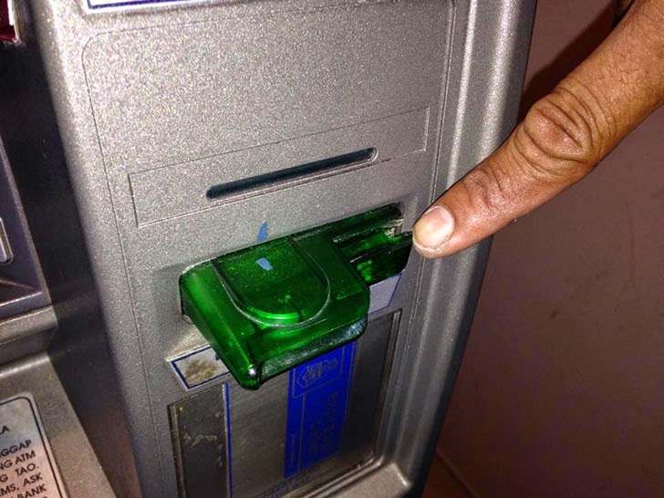 Fake ATM card reader