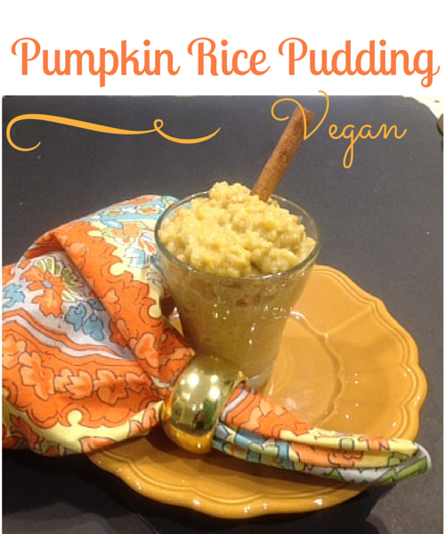 Vegan Pumpkin Rice Pudding by Gluten Free with Judee