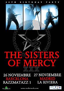 Conciertos de Sisters Of Mercy en Madrid y Barcelona en Noviembre