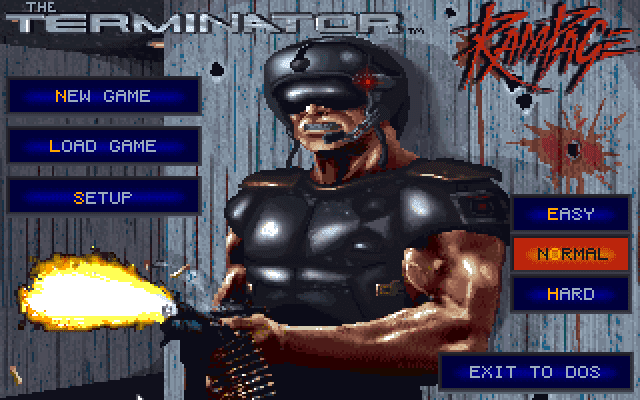 The Terminator: Rampage title screen