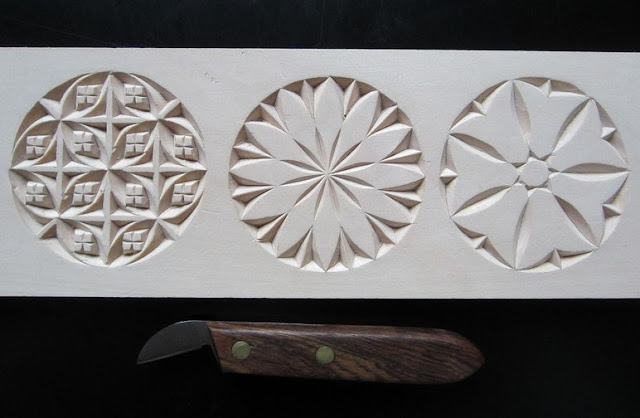 Ales The Woodcarver Chip Carving Practise Board