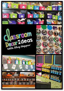 http://imbloghoppin.blogspot.com/2015/06/classroom-decor-ideas.html