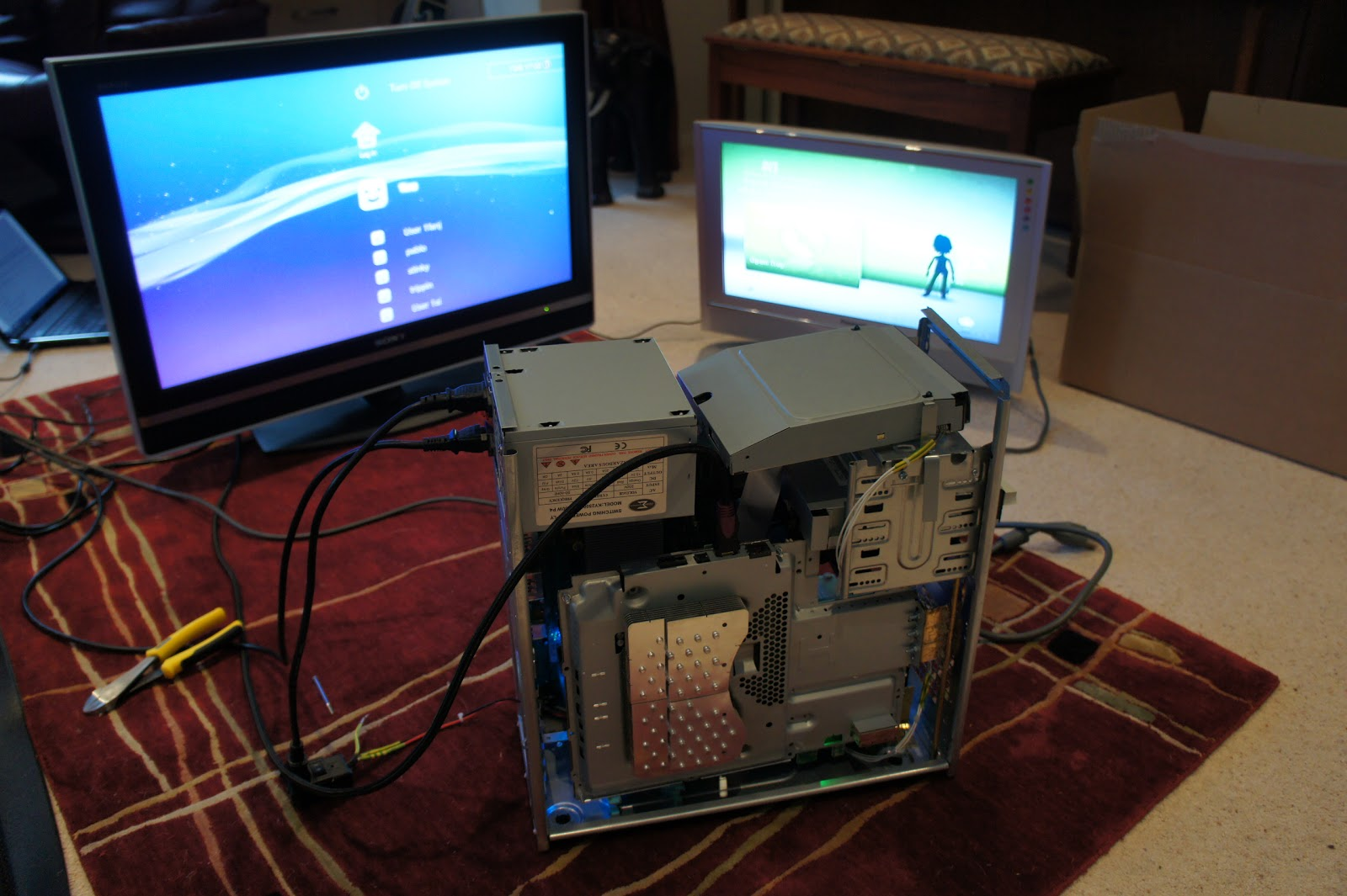 connecting ps3 to pc tower