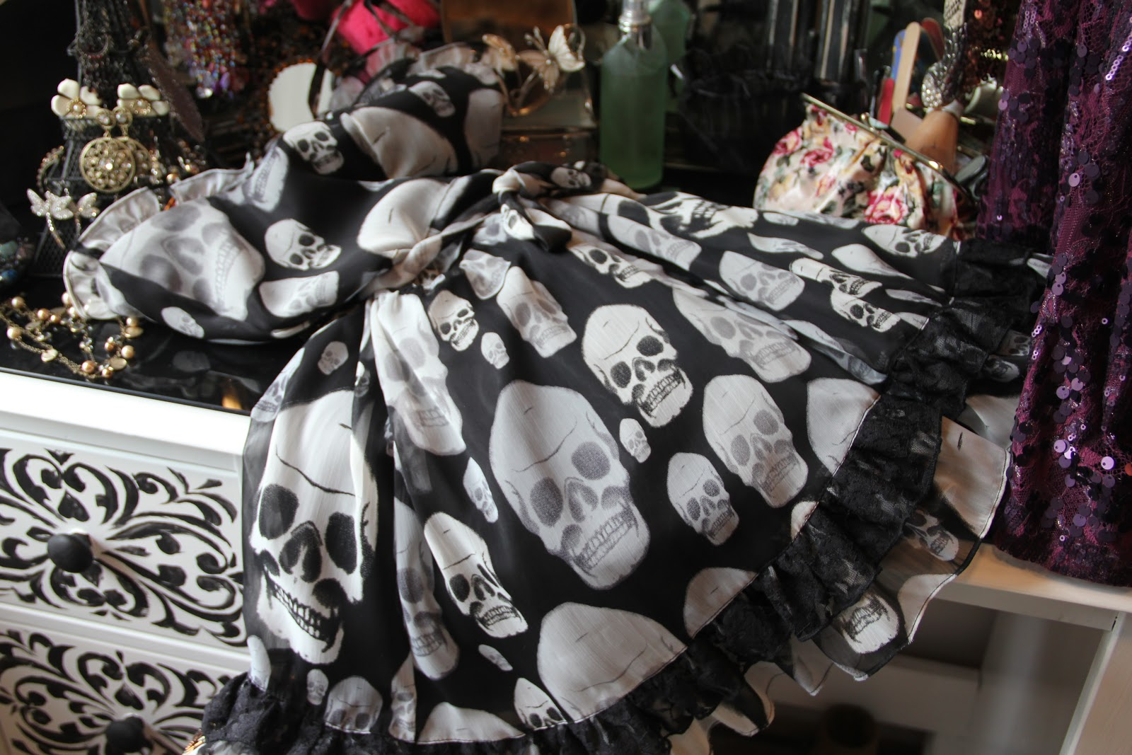 Crow Fairy Creations Skull Dress With Steampunk Flowers Step By