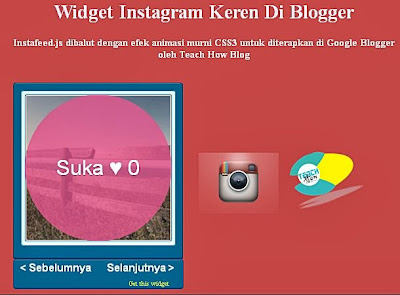 Blogger instagram widget
