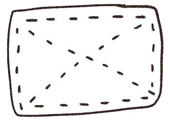 雑巾のイラスト(掃除)線画