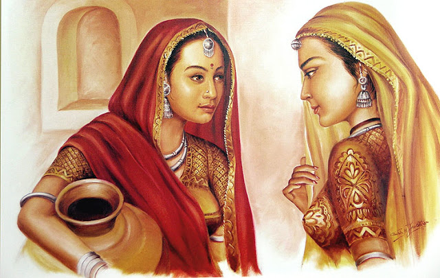 Rajasthani Girls Art Paintings 22