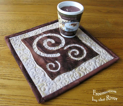 Batik candle mat at Freemotion by the River