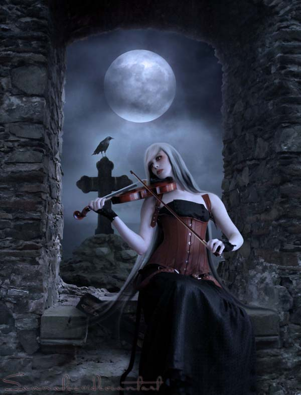 silent melody by sannalee01 d37ga8a Masterful Examples of Dark Photo Manipulation Art