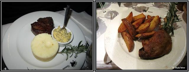 Cafe brasserie Le Bouledogue Paris 3eme plats pièce de boucher magret canard