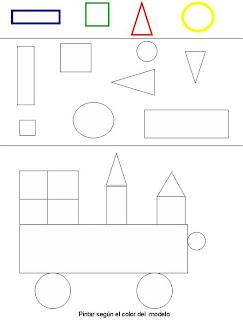 ejercicios de las figuras geometricas para colorear