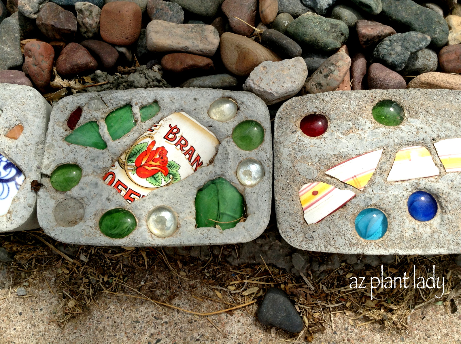 Diy Stepping Stones Diy Stepping Stones And Border Ramblings From A Desert Garden