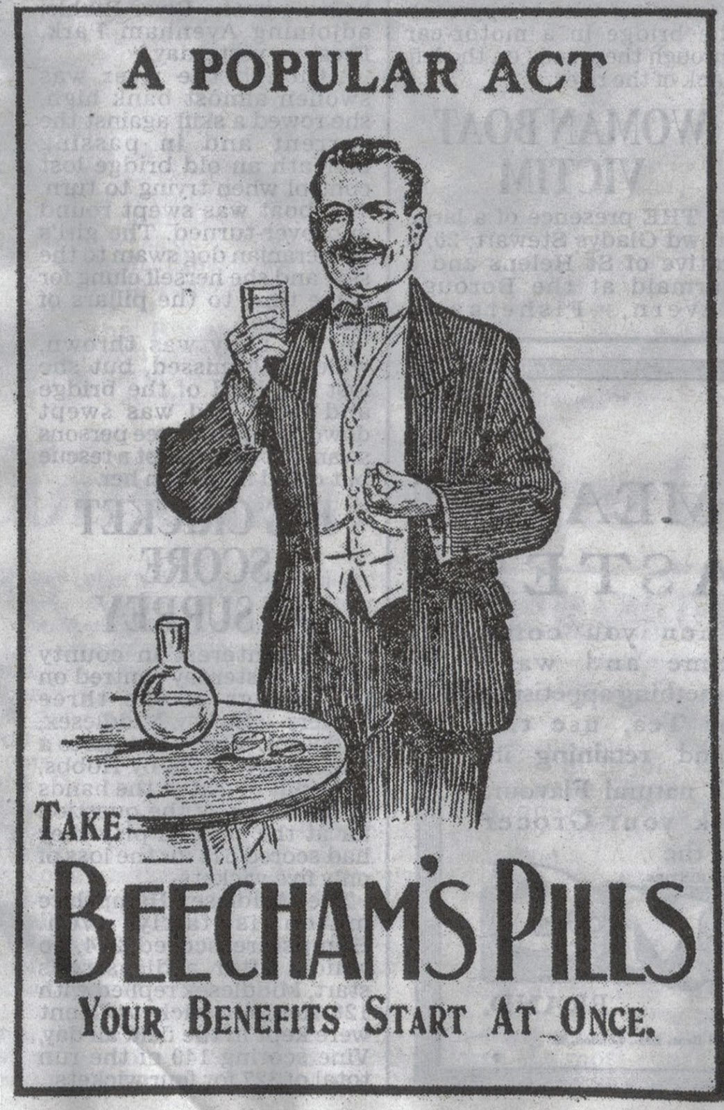1914 advert for Beecham's Piulls