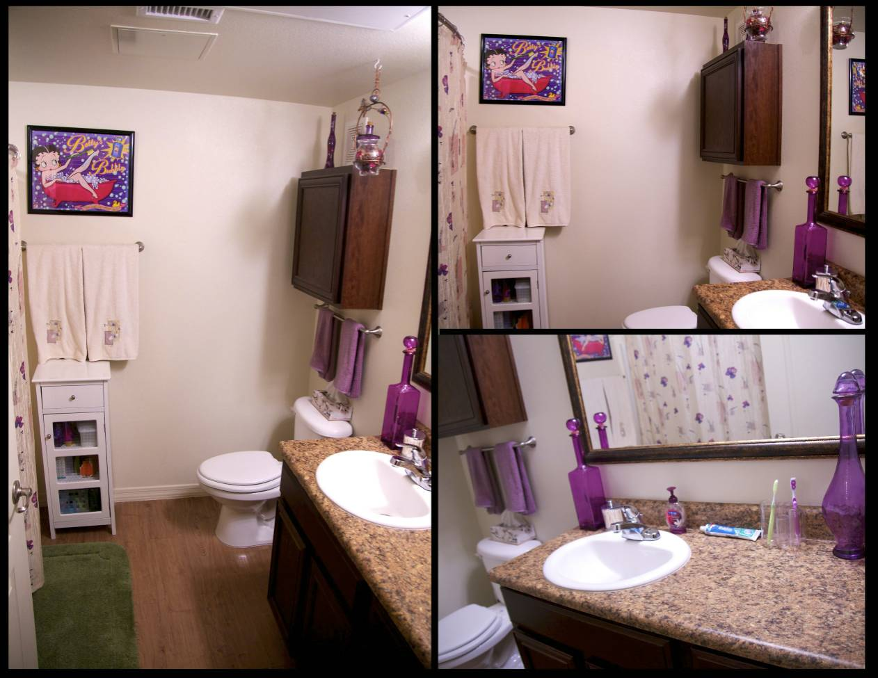 Our army life according to the wife bathroom makeover for Bathroom decor ideas for girls