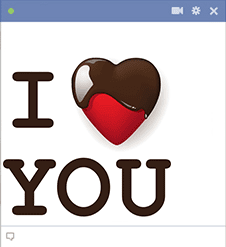 Chocolate I Love You for Facebook