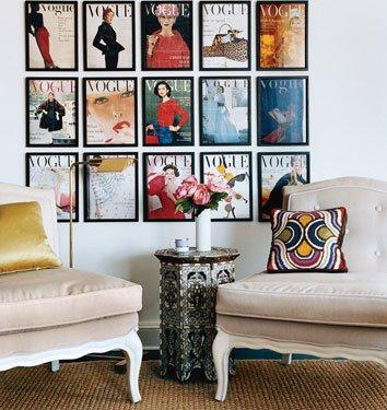 Interior Decorating Magazines on Fashion Forward Easy Fix For Bare Walls