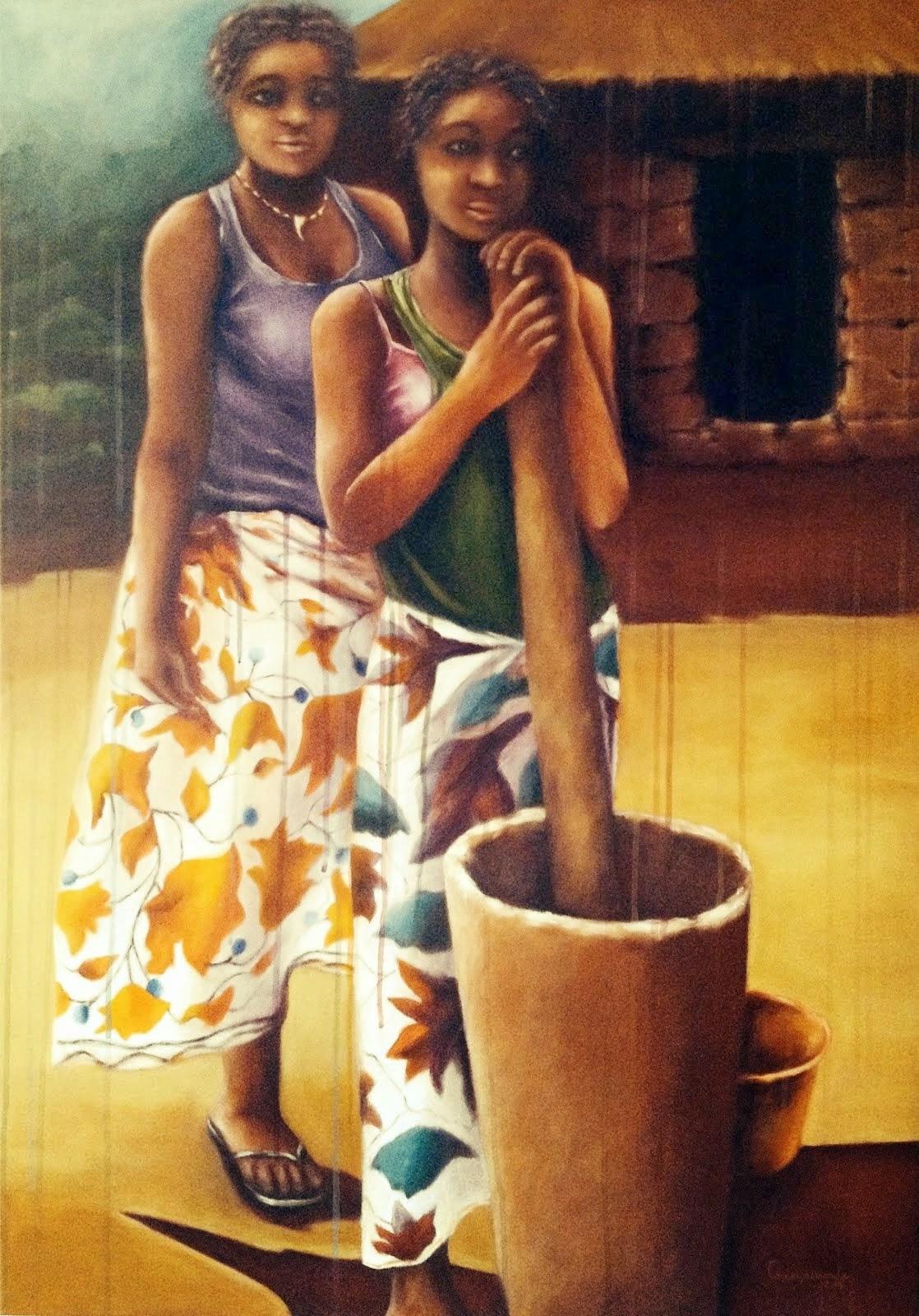 """""""Pisando o milho no pilão"""" ou """"Vakasi loku fula epungu vocine"""""""