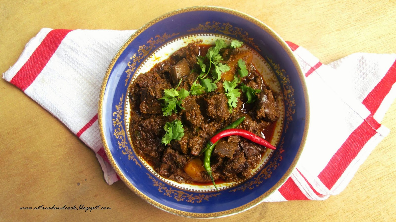 how to bengali style spicy goat liver curry