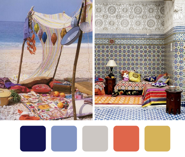 Belle maison color palettes inspired by the sights and sounds of summer - Maison palette ...