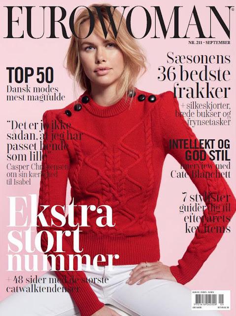 Model @ Emma Stern by Jesper Lindstrom  for Eurowoman Denmark, September 2015