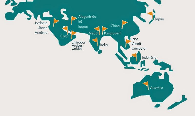 passaporte países visto turista brasileiro