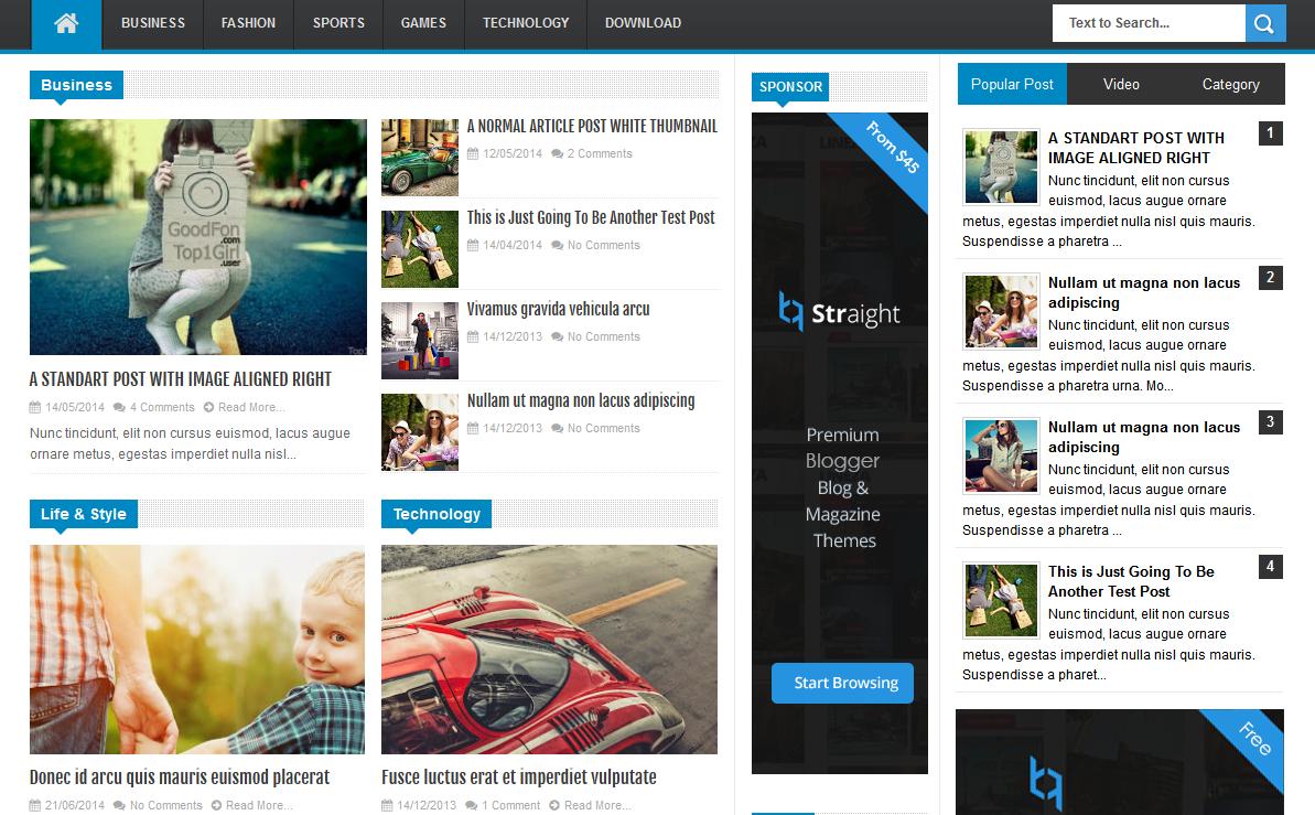Chia sẻ LineZap Responsive - Template Blogspot tin tức đẹp, chuyên nghiệp